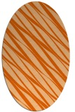 rug #266477 | oval red-orange stripes rug