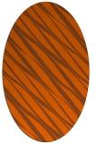 rug #266481 | oval red-orange rug