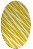 rug #266493 | oval white stripes rug