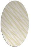 rug #266509 | oval white stripes rug