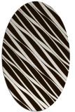 rug #266513 | oval brown stripes rug