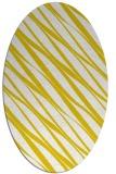 rug #266517   oval white stripes rug