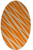 rug #266533 | oval beige stripes rug