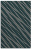 rug #266697 |  blue-green stripes rug