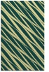 rug #266773    blue-green stripes rug