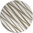 rug #267061 | round mid-brown stripes rug