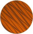 rug #267185 | round red-orange stripes rug