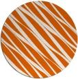 rug #267189 | round red-orange stripes rug