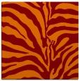 rug #267813 | square red-orange stripes rug