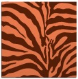 rug #267825 | square red-orange rug
