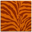 rug #267881 | square red-orange stripes rug
