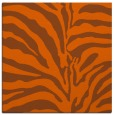 rug #267889 | square red-orange animal rug