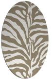 rug #267977 | oval white stripes rug