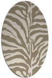 rug #267979 | oval animal rug