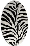rug #267981 | oval white stripes rug
