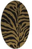 rug #267997 | oval black stripes rug