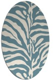 rug #268001 | oval white stripes rug