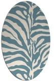 rug #268001 | oval white animal rug
