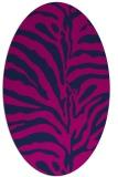 rug #268005 | oval pink animal rug