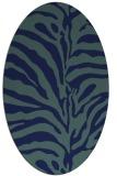 rug #268009 | oval blue animal rug