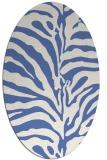 rug #268017   oval blue stripes rug