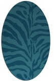 rug #268025 | oval blue-green rug