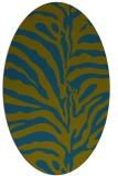 rug #268037   oval green animal rug