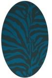 rug #268057 | oval blue animal rug