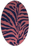 rug #268069 | oval blue-violet animal rug