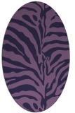 rug #268073 | oval purple stripes rug