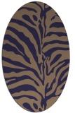 rug #268085 | oval blue-violet rug