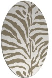 rug #268117   oval white stripes rug