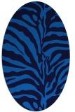 rug #268145 | oval blue animal rug