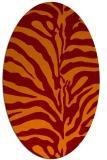 rug #268165 | oval red-orange stripes rug