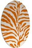 rug #268169 | oval orange stripes rug
