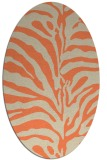 rug #268173 | oval beige stripes rug