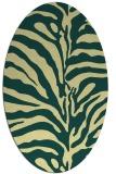 rug #268181 | oval yellow animal rug