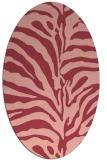 rug #268193 | oval pink animal rug