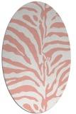 rug #268197 | oval white stripes rug