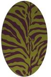 rug #268205 | oval purple animal rug