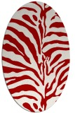 rug #268217 | oval red stripes rug