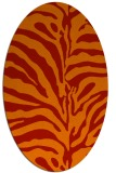 rug #268221 | oval red animal rug