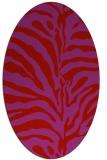 rug #268229 | oval red rug