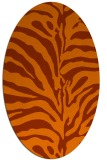 rug #268233 | oval red-orange stripes rug