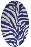 rug #268257 | oval blue animal rug