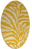 rug #268265 | oval yellow animal rug