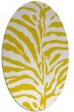 rug #268277 | oval yellow animal rug