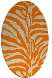 rug #268293 | oval beige animal rug