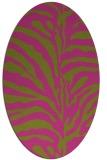 rug #268305   oval light-green animal rug