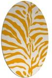 rug #268313 | oval light-orange animal rug